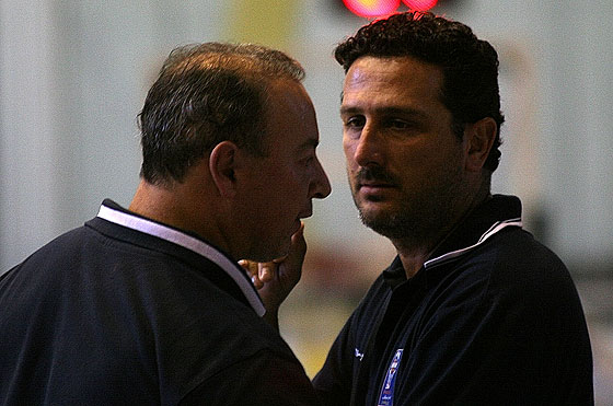Cyprus Coaches Costas Englezos and Marinos Thrasivoulides