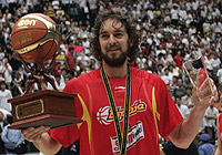 2006 FIBA World Championship MVP Pau Gasol (Spain)