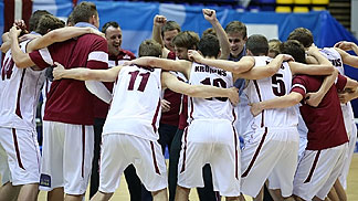 Latvia were full of joy after surviving in Division A