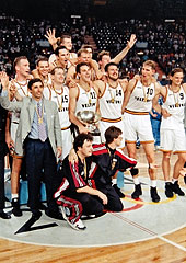 Germany win Gold at the European Championship in 1993.