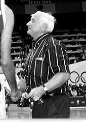 USSR coach Alexander Gomelski at the 1988 Olympic Games, where he led his side to the gold medal