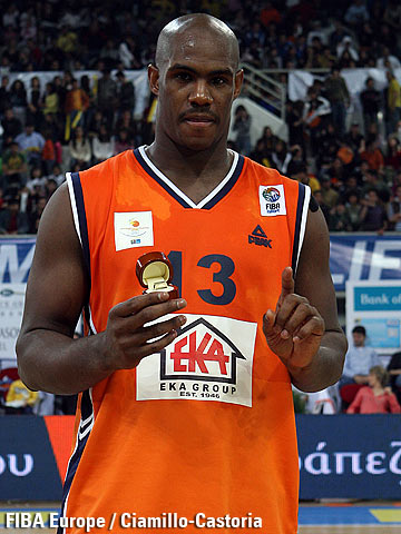 Erwin Dudley (Türk Telekom S.C.), MVP of the Euro Cup All Star Game 2007