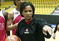 Rest of the World head coach Pokey Chatman at the morning practice before the EuroLeague Women All Star Game