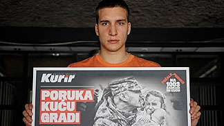 Bogdan Bogdanovic asking for support for the victims of the Balkan floods (photo: Kurir/Dado Djilas)