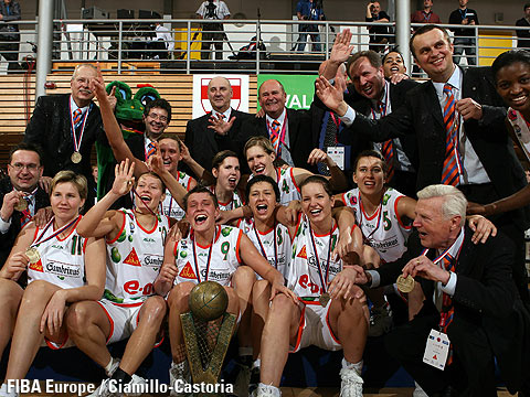 Winner of the EuroLeague Women 2006: Gambrinus Sika Brno