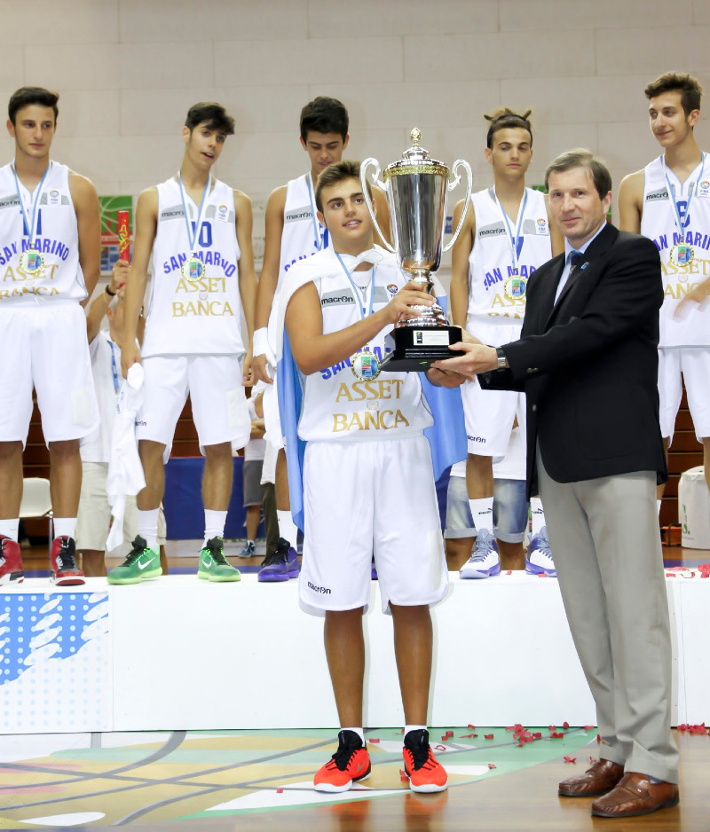 San Marino with the champions trophy