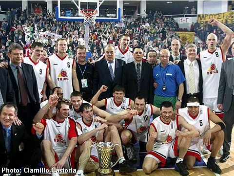 Winner of the FIBA Europe League 2004: UNICS Kazan (Russia)