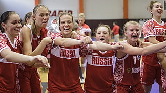 Russia celebrating their victory