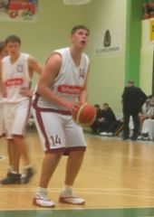 Guard Janis Bambis (Valmeira) at the line