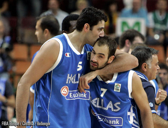 5. Ioannis Bourousis (Greece), 7. Vasileios Spanoulis (Greece)