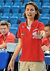 Spain head coach Anna Caula