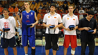 All tournament team Ondrej Balvín (Czech Republic), Bar Timor (Israel), Devon Van Oostrum (England) Nemanja Djurisic (Montenegro), Radosav Spasojevic (Montenegro)