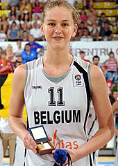 11. Emma Meesseman (Belgium) with the MVP trophy
