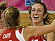 Switzerland celebrate their first victory at the U20 European Championship Women Division B