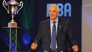 EuroLeague Women and EuroCup Women 2011/12 Draw - FIBA Europe Secretary General Nar Zanolin