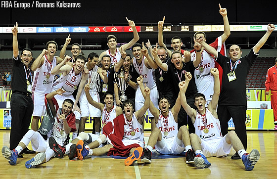 2013 U18 European champions Turkey