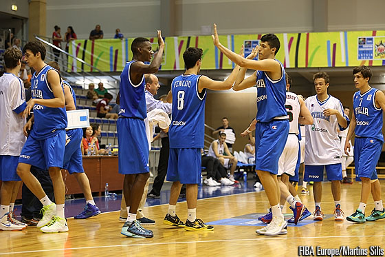 Italy celebrate their first win at U18 European Championship Men
