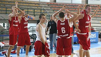 Poland celebrate a win over Turkey