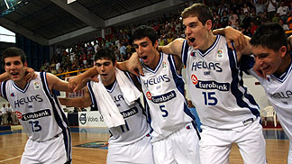 Greece celebrating