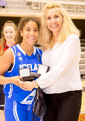 Thoranna Kika Hodge-Carr was named MVP of the U16 European Championship Women Division C 2015