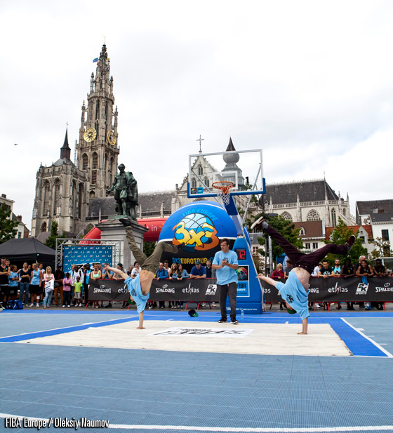 3x3EuroTour Antwerp Stop took place in the heart of the city on the Groenplaats, providing amazing background for some of the photos