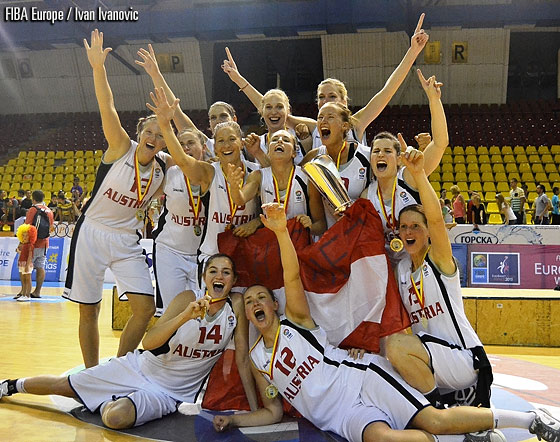 Austria were crowned champions at the European Championship of the Small Countries Women for the fourth time in their history