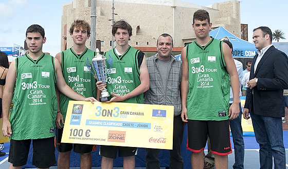 Gran Canaria 3on3 Tour Master Final - Team Evecan is presented with prize