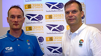 basketballscotland 2012 Mid Season Seminar - Chris Dodds (L), Johnny Jacobs