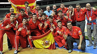 Bronze medal winners Spain