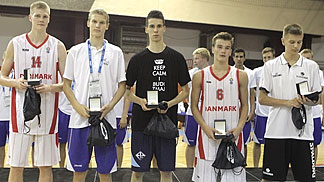 All Tournament Teaam August Haas (Denmark), Jacob Larsen (Denmark), Nedim Dedovic (Bosnia and Herzegovina), Blaz Mesicek (Slovenia) & Lauri Markkanen (Finland)