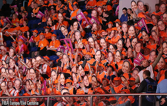 Fans at the UMMC Ekaterinburg vs. ZVVZ USK Prague game