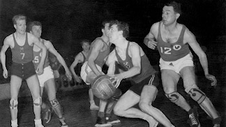 1951 European Championship action: France vs. Czechoslovakia