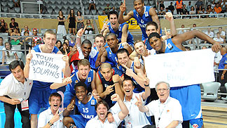 France celebrate the U20 European Championship Men 2010 title