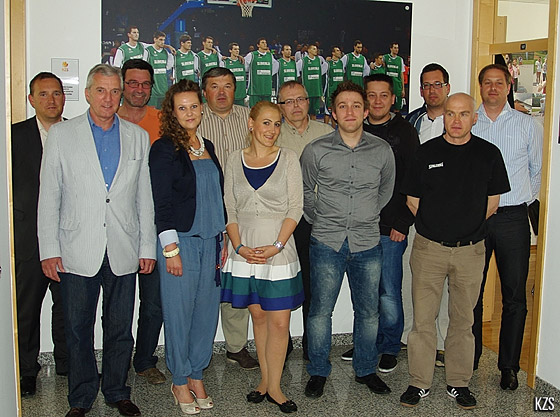 Staff members of the Slovenian Basketball Federation