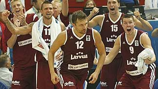 Kristaps Janicenoks was the hero for Latvia, nailing a clutch three and the game winner in crunch time