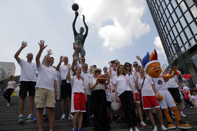 EuroBasket 2015 Trophy Tour stop at the Drazen Petrovic Museum in Zagreb