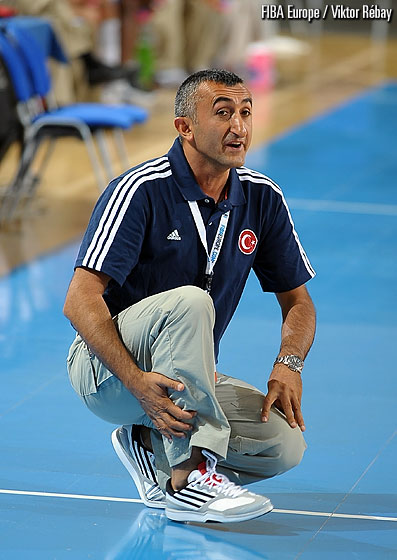 Turkey head coach Aziz Akkaya