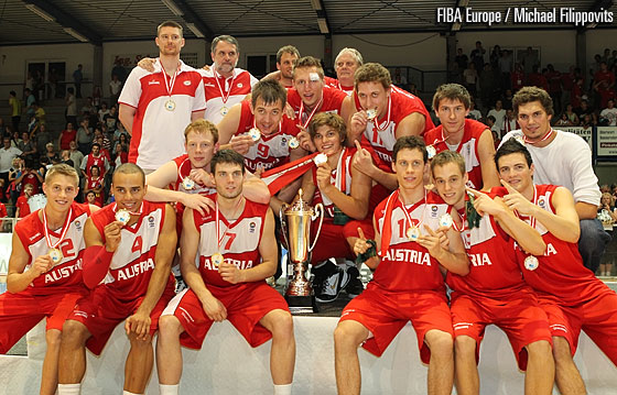 Austria win Gold at the 2010 U20 European Championship Division B