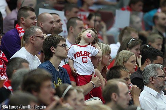 Is this young Polish fan enjoying the game?