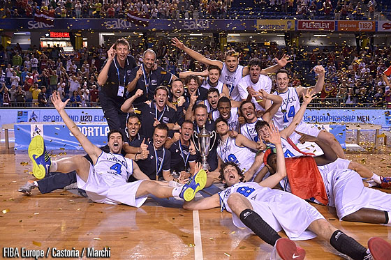 Italy - Champions of the Sportland U20 European Championship 2013