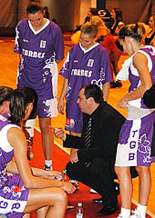 Tarbes head coach Cyril Sicsic