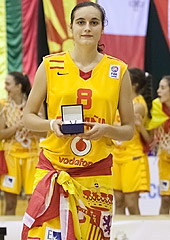 Angela Salvadores was voted MVP of the tournament, the award being presented by Georgi Glouchkov, President of the Bulgarian Basketball Federation