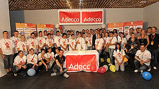 Volunteers at the Adecco Ex-YU Cup 2011 in Slovenia