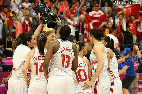 After five games Turkey remain undefeated at EuroBasket Women 2013
