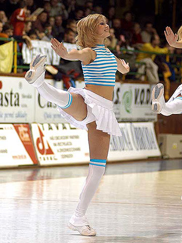 A cheerleader of Delta Kosice