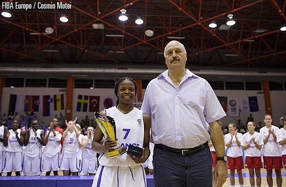 7. Olivia Epoupa (France) with the Tournament MVP award