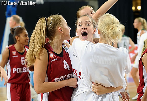 Poland celebrate their comeback victory over Lithuania